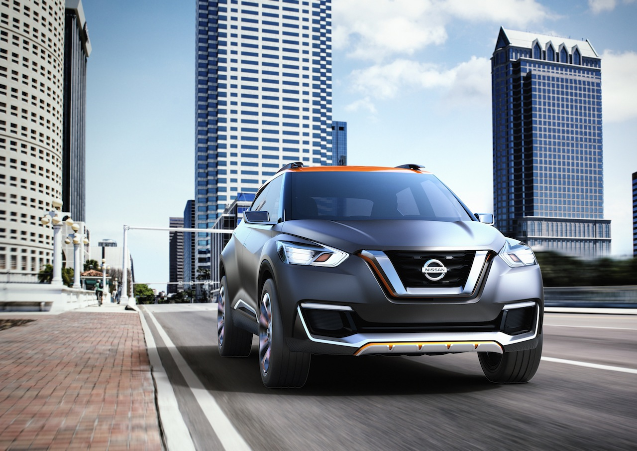 Nissan Kicks Concept front angle Press shot