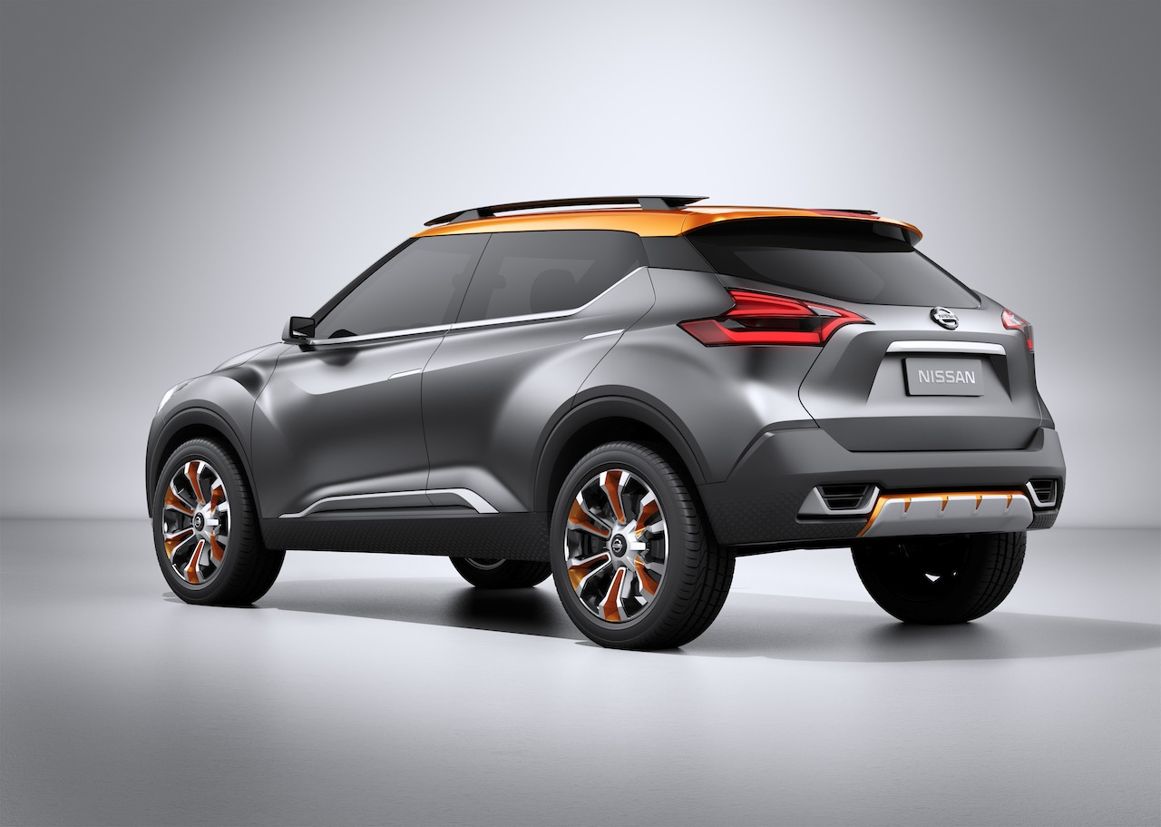 Nissan Kicks Concept rear quarter angle Press shot