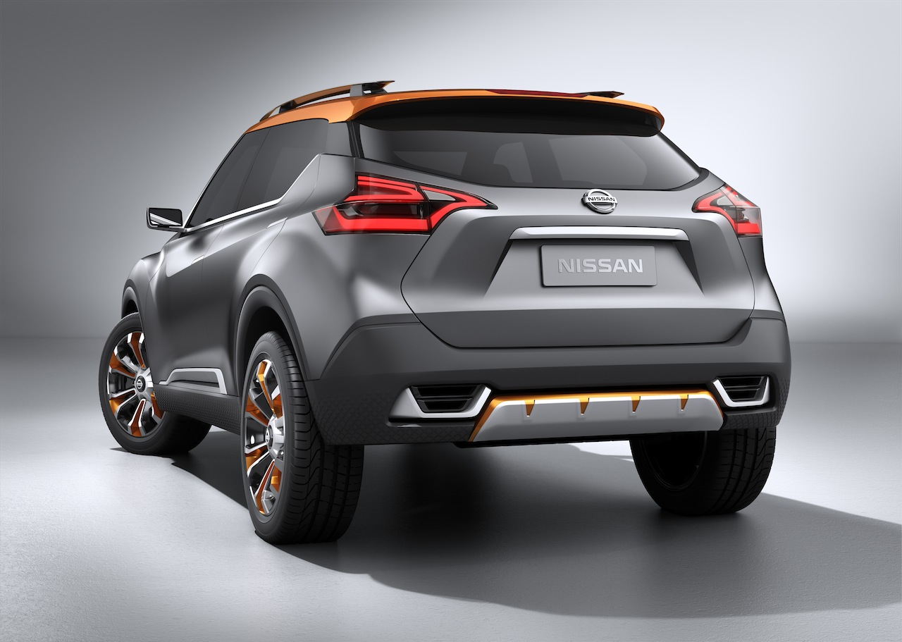 Nissan Kicks Concept rear quarters Press shot