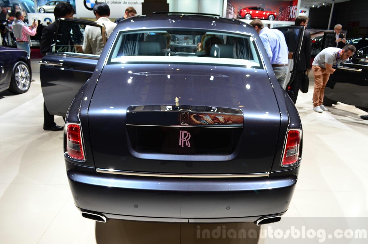 Rolls-Royce Phantom Metropolitan Collection rear fascia at the 2014 Paris Motor Show