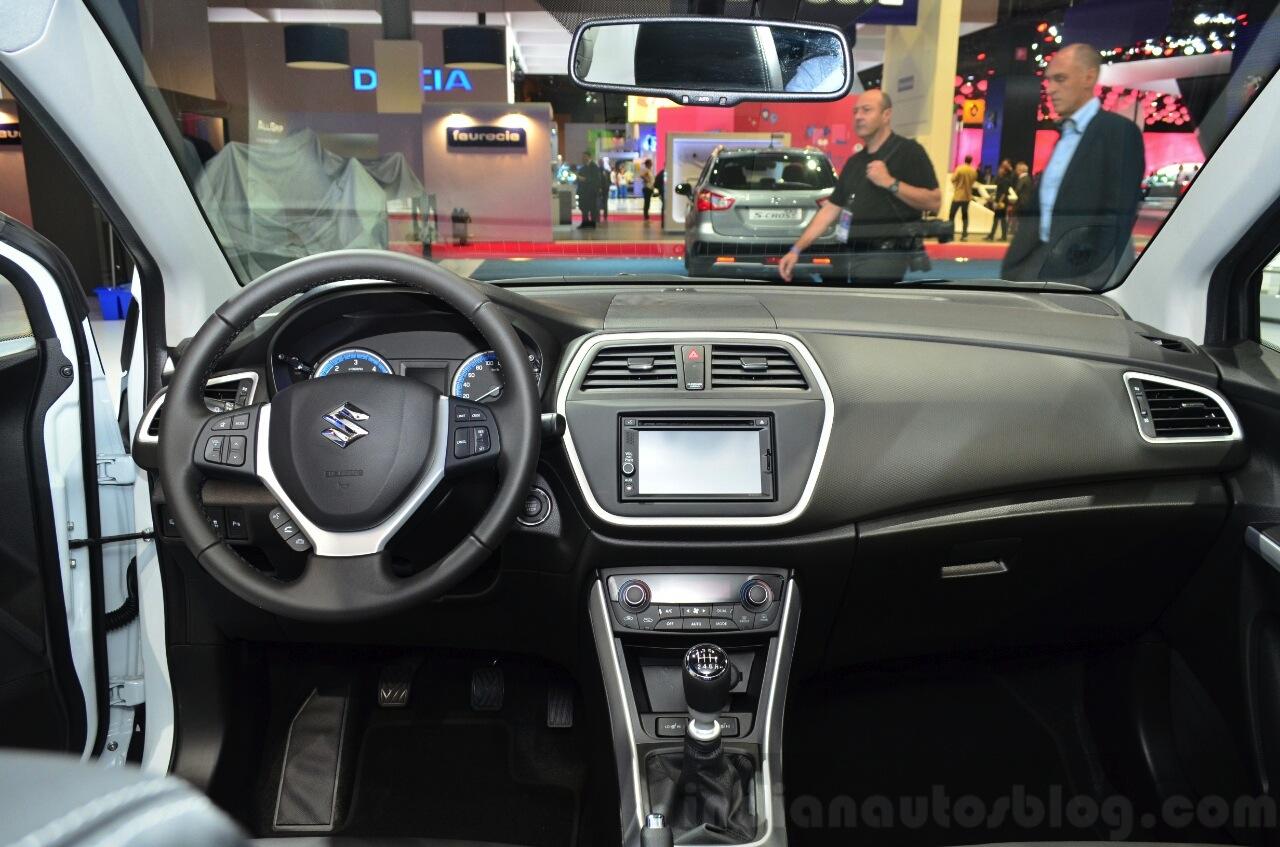 Suzuki SX4 S-Cross dashboard at the 2014 Paris Motor Show