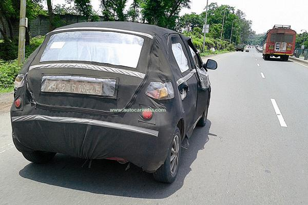 Tata Kite rear quarter spied