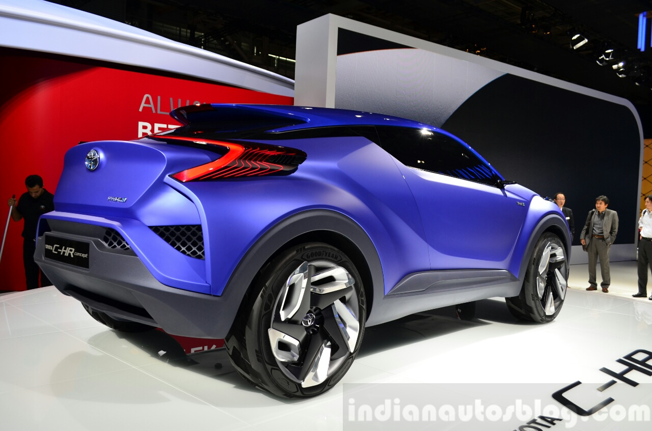 Toyota C-HR Concept rear three quarters at the 2014 Paris Motor Show