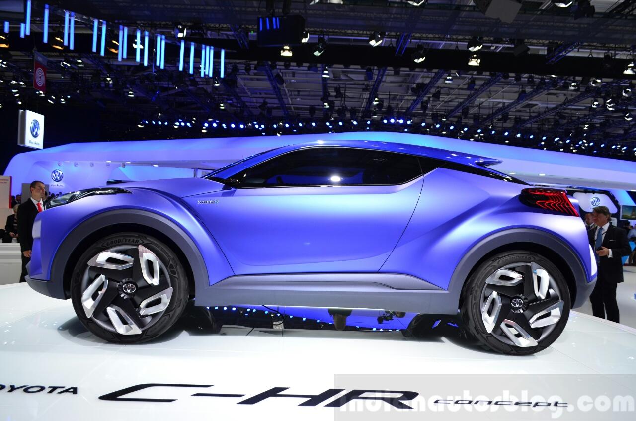 Toyota C-HR Concept side profile at the 2014 Paris Motor Show