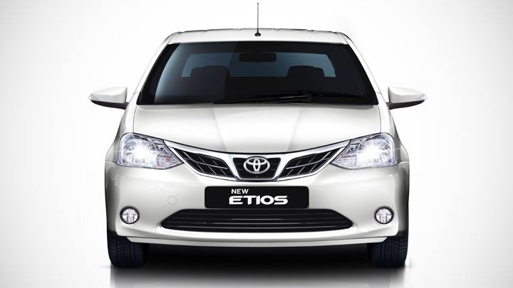 Toyota Etios facelift front official image