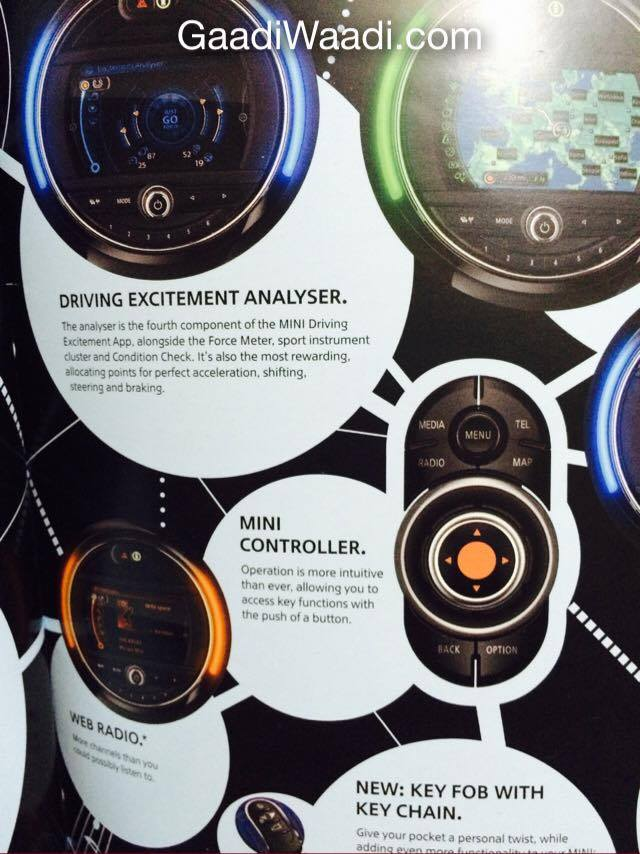 2014 Mini Cooper brochure scan driving excitement analyzer