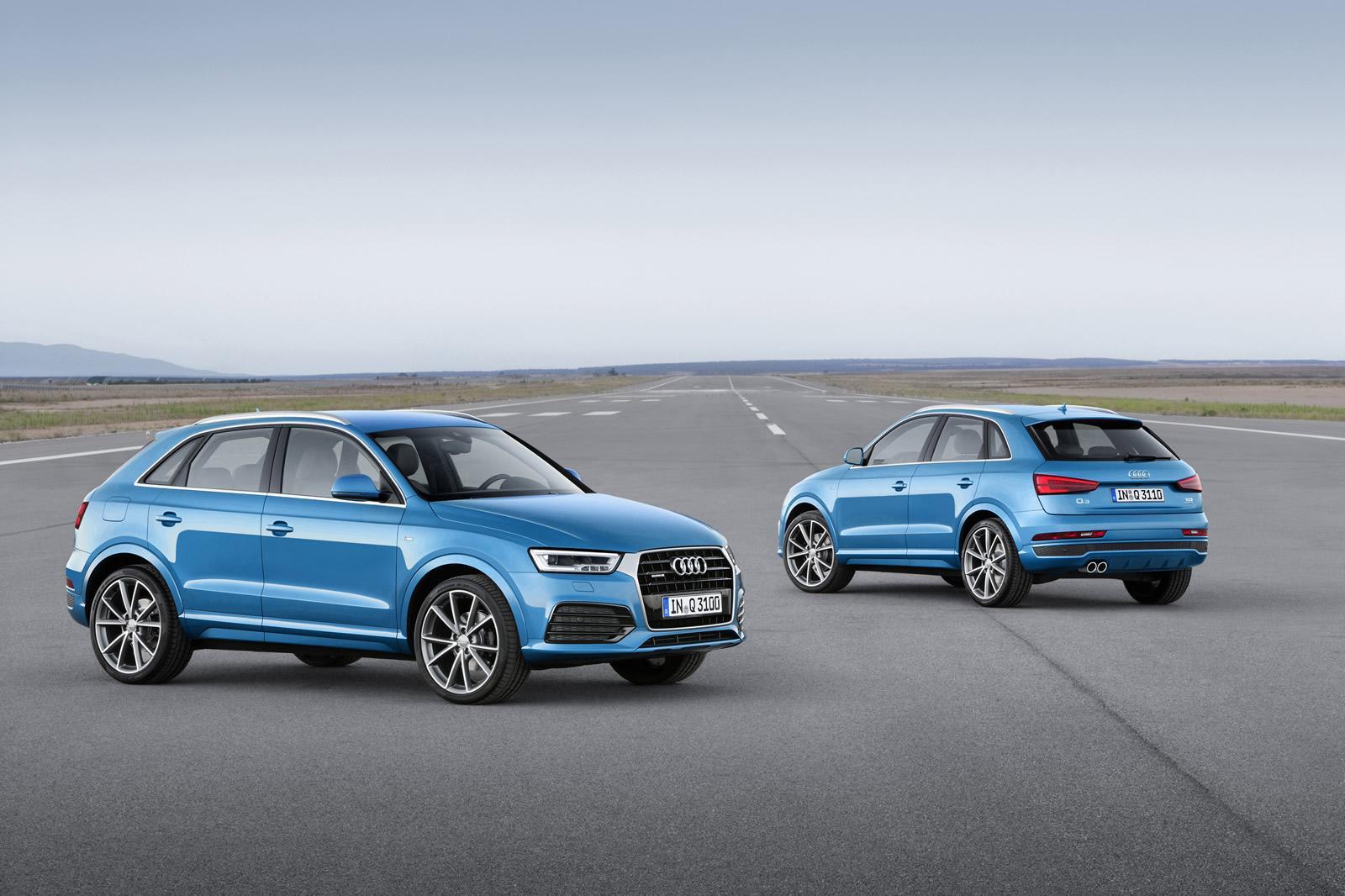 2015 Audi Q3 facelift front and rear quarter