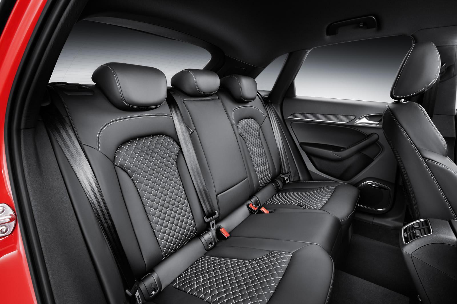 2015 Audi RS Q3 facelift rear seat
