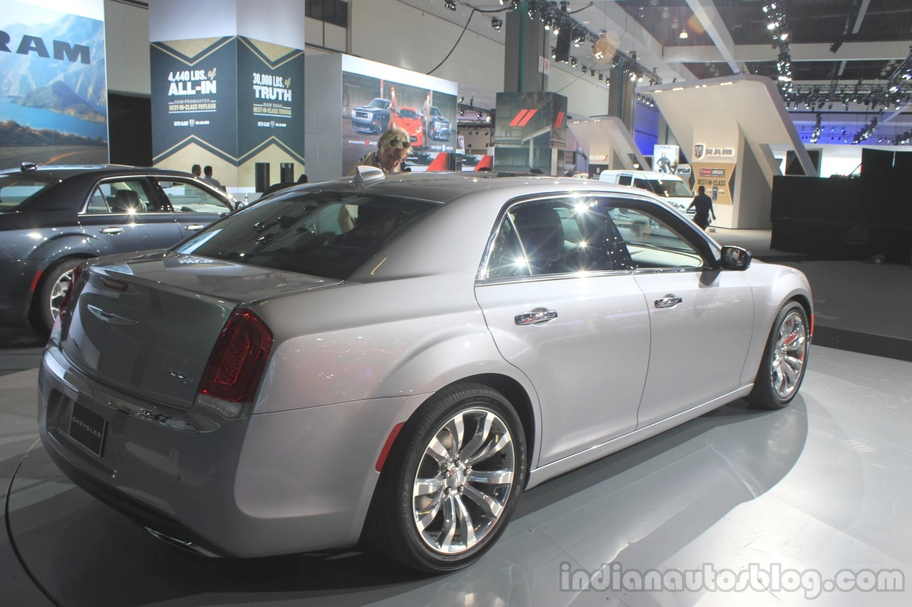 2015 Chrysler 300 rear three quarters at the 2014 Los Angeles Auto Show