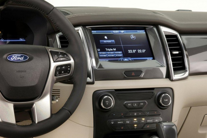 2015 Ford Endeavour central touchscreen