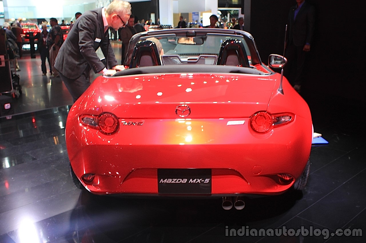 2015 Mazda MX-5 rear at the 2014 Los Angeles Auto Show