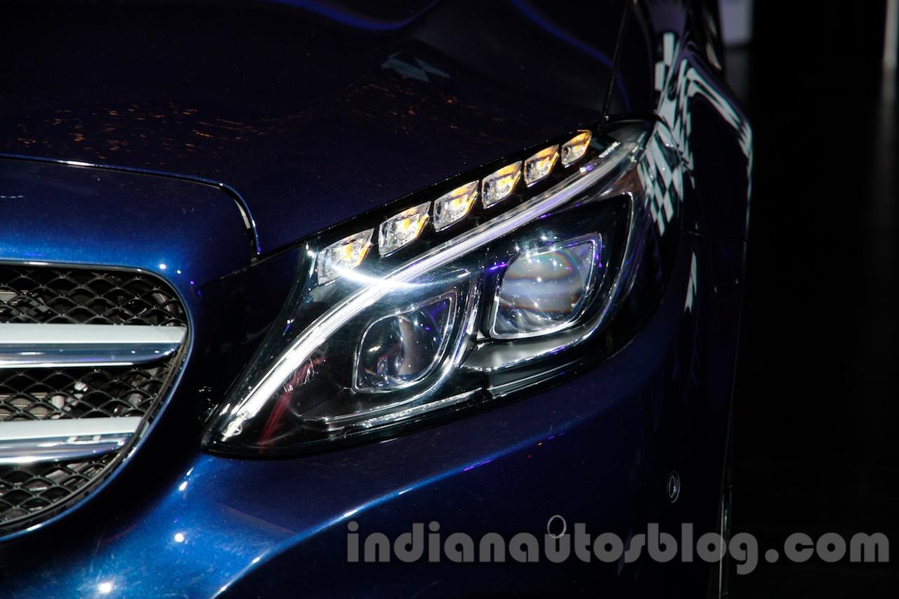 2015 Mercedes C Class headlight launch