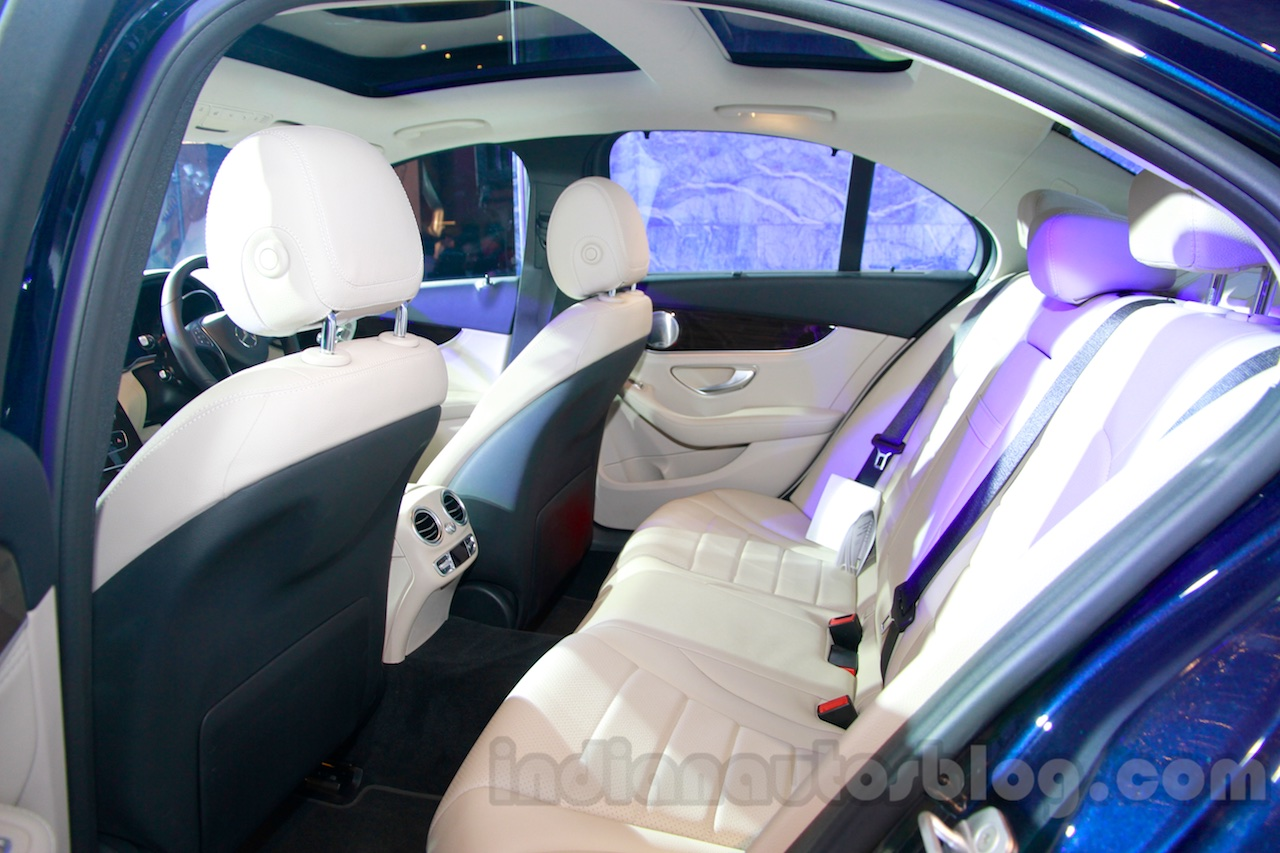 2015 Mercedes C Class rear seat launch