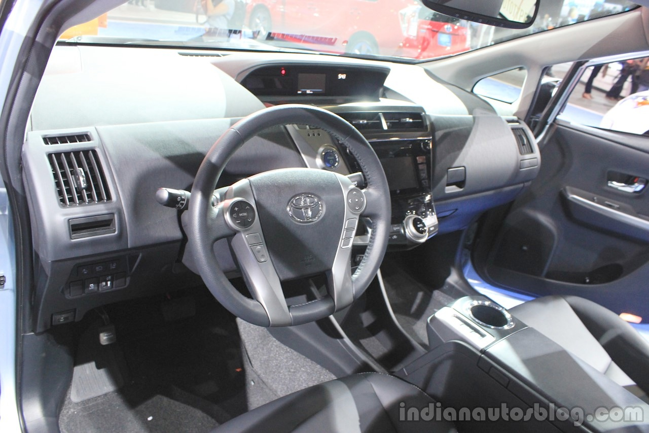 2015 Toyota Prius v dashboard at the 2014 Los Angeles Motor Show
