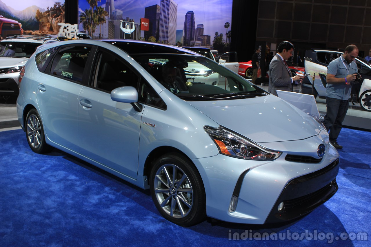 2015 toyota prius v front three quarters at the 2014 los. Black Bedroom Furniture Sets. Home Design Ideas