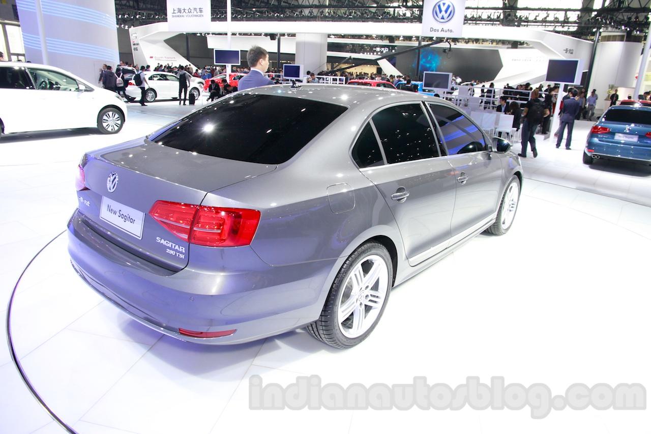 2015 VW Sagitar facelift rear quarters at Guangzhou Auto Show 2014