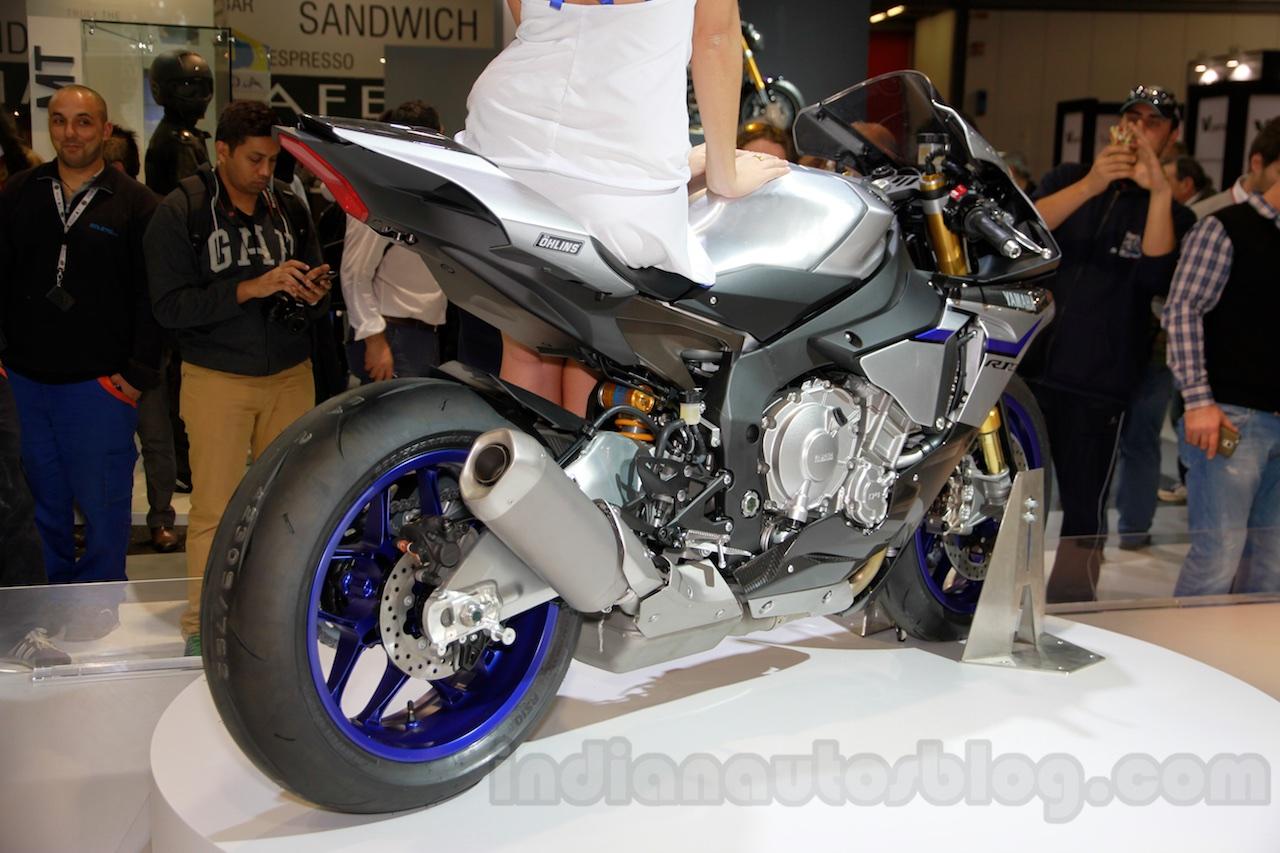 2015 Yamaha YZF-R1 M rear right three quarter at EICMA 2014