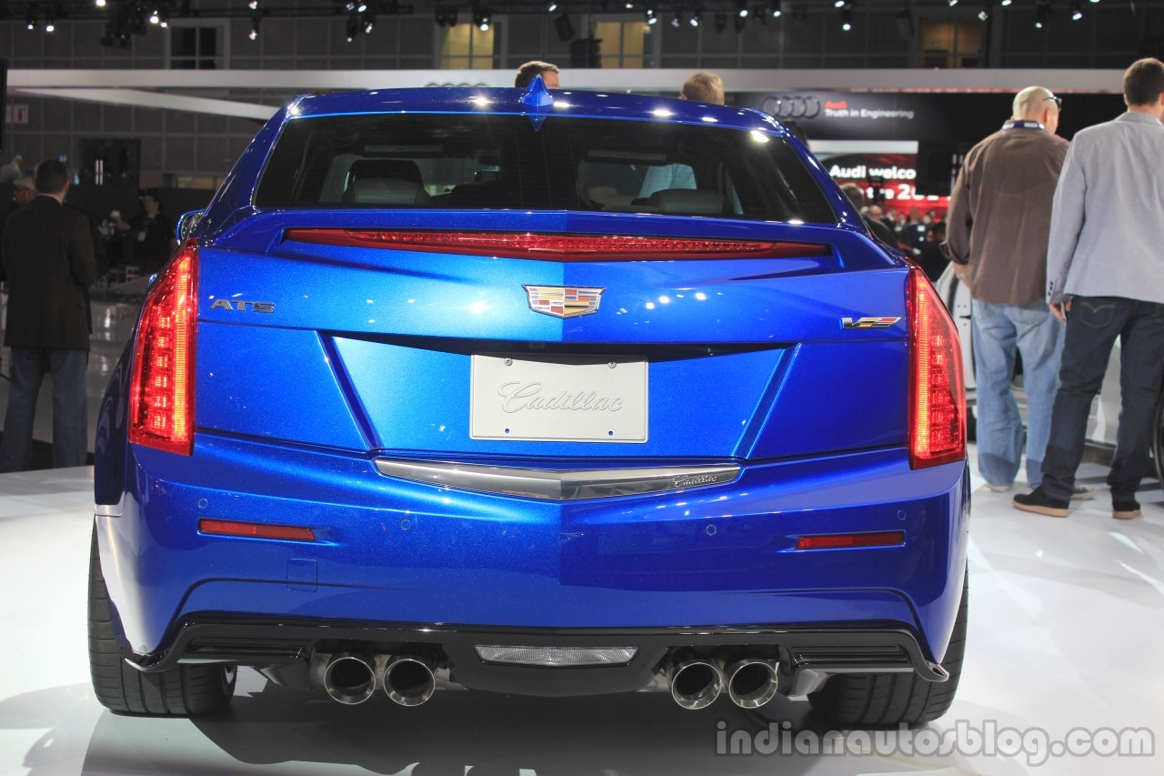 2016 Cadillac ATS-V Sedan rear at the 2014 Los Angeles Auto Show