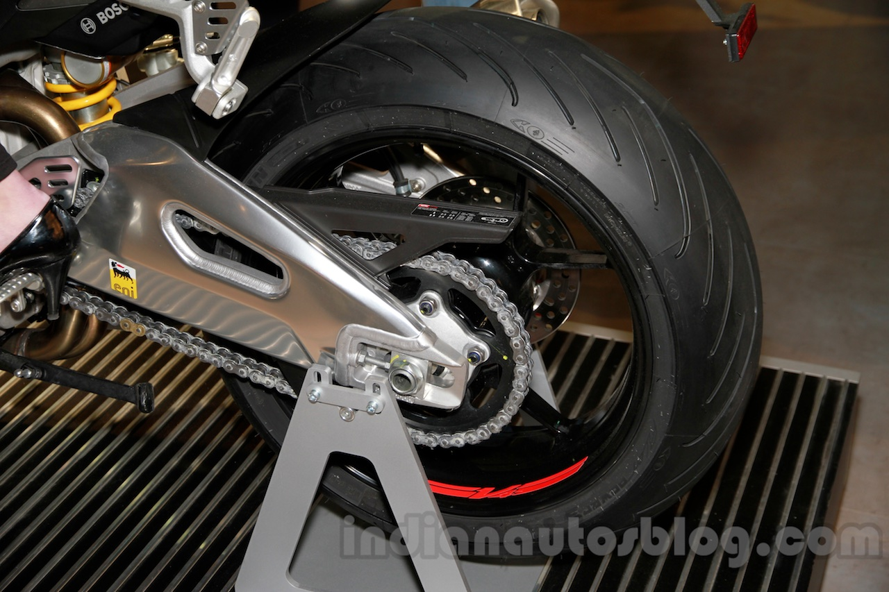 Aprilia Tuono V4 1100 RR rear wheel at EICMA 2014