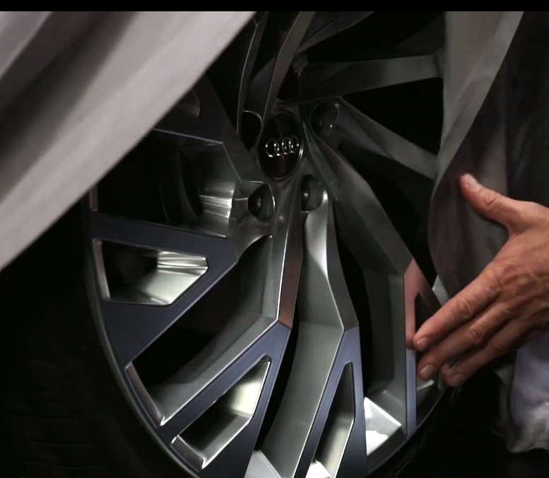 Audi A9 concept wheel teased