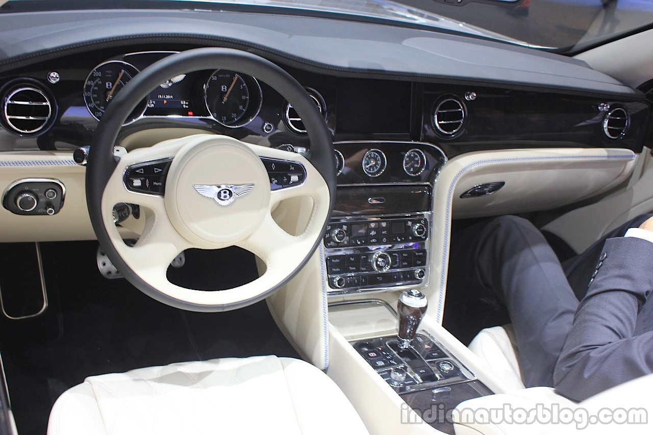Bentley Grand Convertible dashboard at the 2014 Los Angeles Auto Show