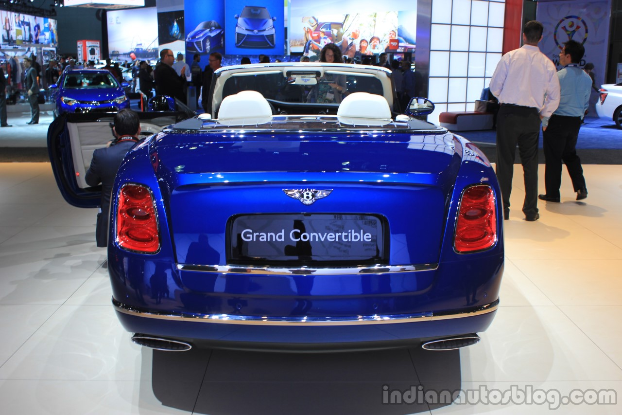 Bentley Grand Convertible rear view at the 2014 Los Angeles Auto Show