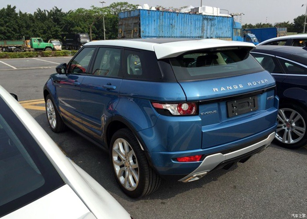 China-made Range Rover Evoque spied rear three quarter