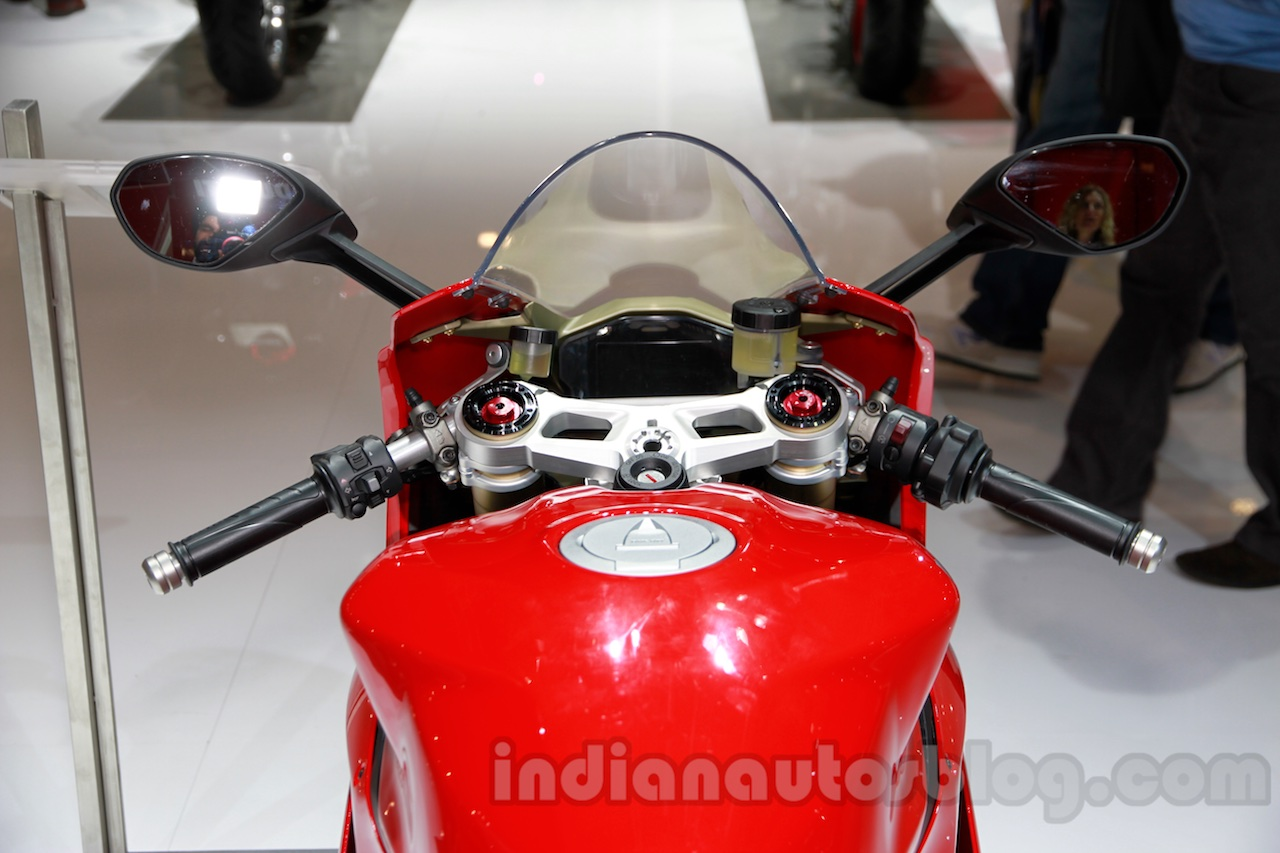 Ducati 1299 Panigale tank and instrument cluster at EICMA 2014