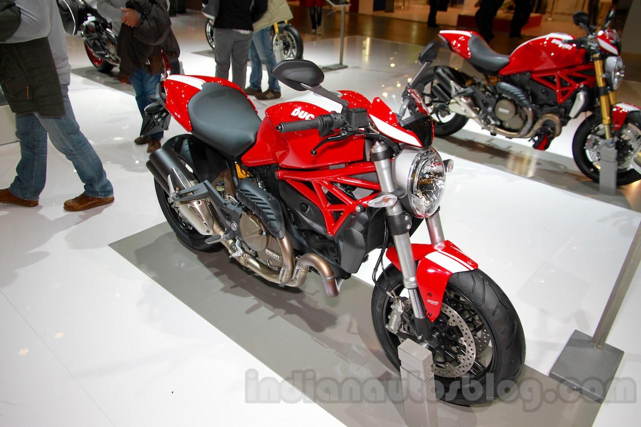 Ducati Monster 821 Stripe front three quarters left at EICMA 2014