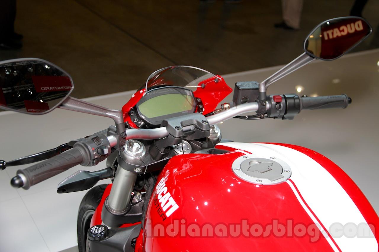 Ducati Monster 821 Stripe instrument cluster at EICMA 2014