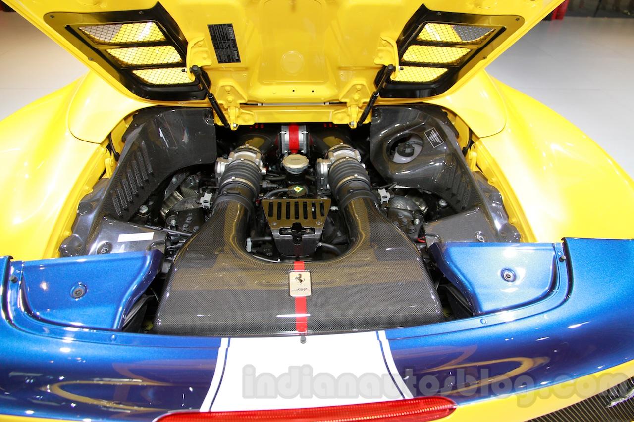 Ferrari 458 Speciale A engine at Guangzhou Auto Show 2014
