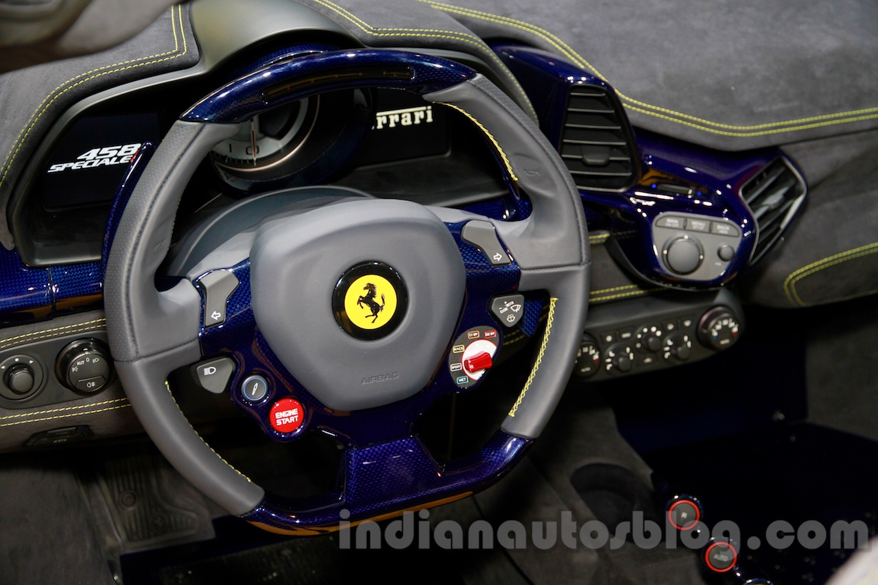 Ferrari 458 Speciale A steering at Guangzhou Auto Show 2014