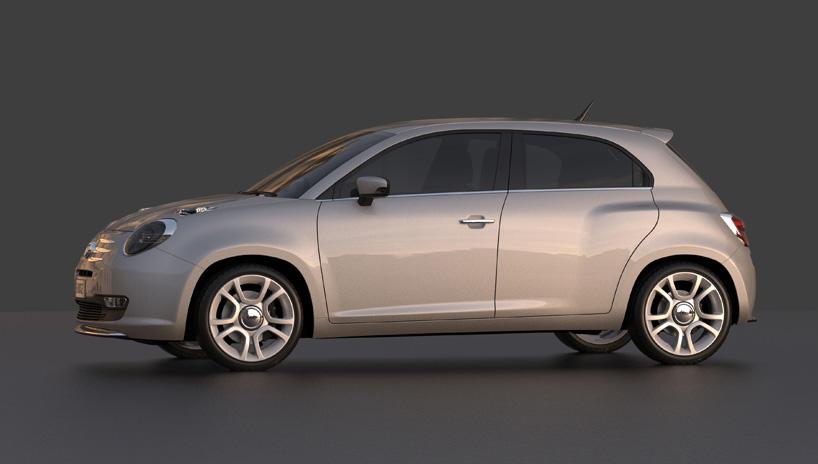 Fiat 600 rendering profile