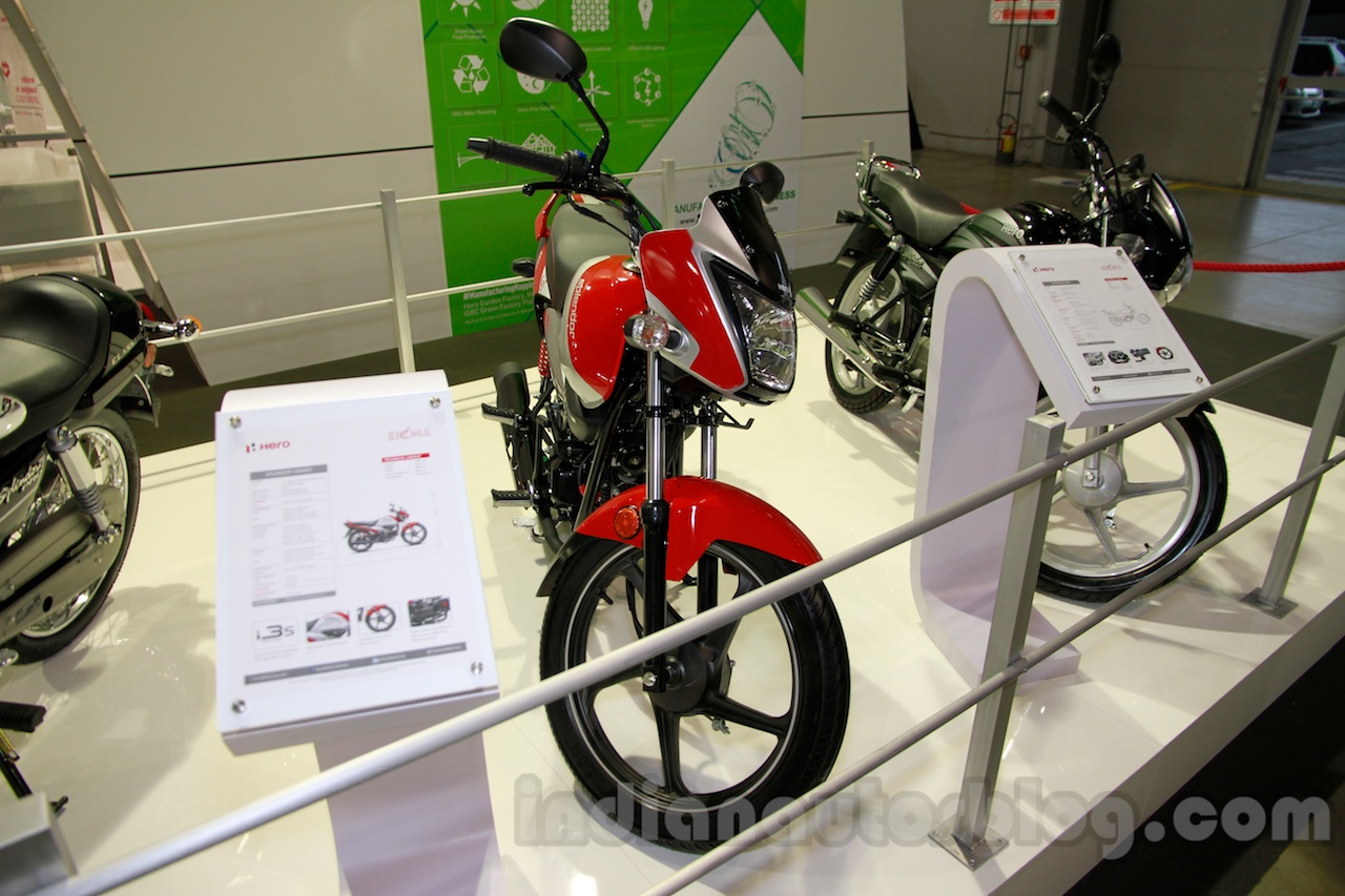 Hero Splendor iSmart front at EICMA 2014