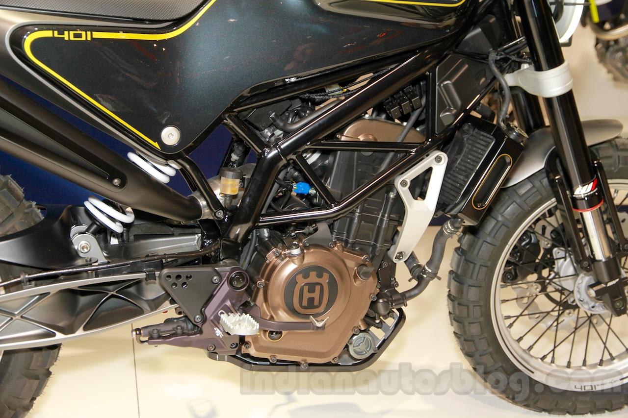 Husqvarna 401 Svartpilen concept engine at EICMA 2014