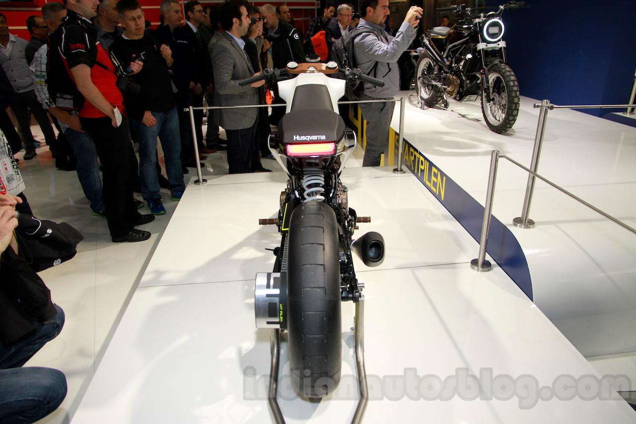 Husqvarna 401 Vitpilen concept rear at EICMA 2014
