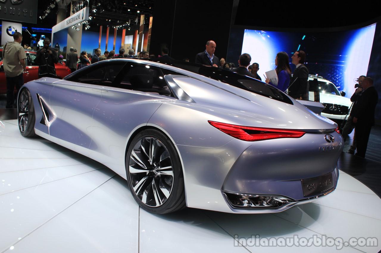 Infiniti Q80 Inspiration Concept rear three quarters at the 2014 Los Angeles Auto Show