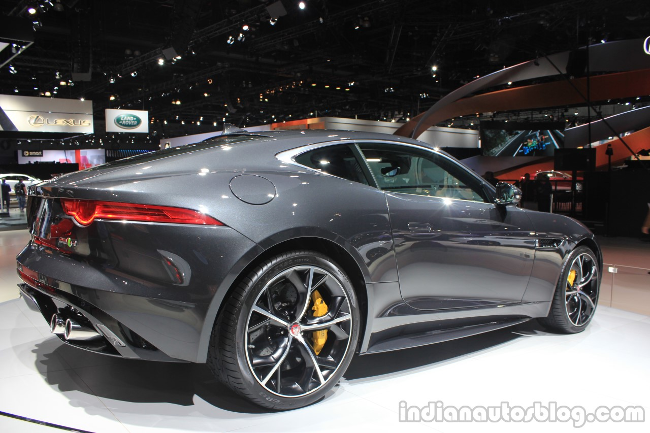 Jaguar F Type R Coupe AWD Rear Three Quarters Right At The Los Angeles Auto  Show 2014