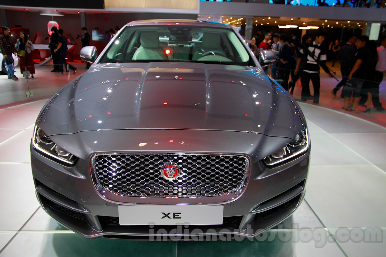 Jaguar XE front at the 2014 Guangzhou Auto Show