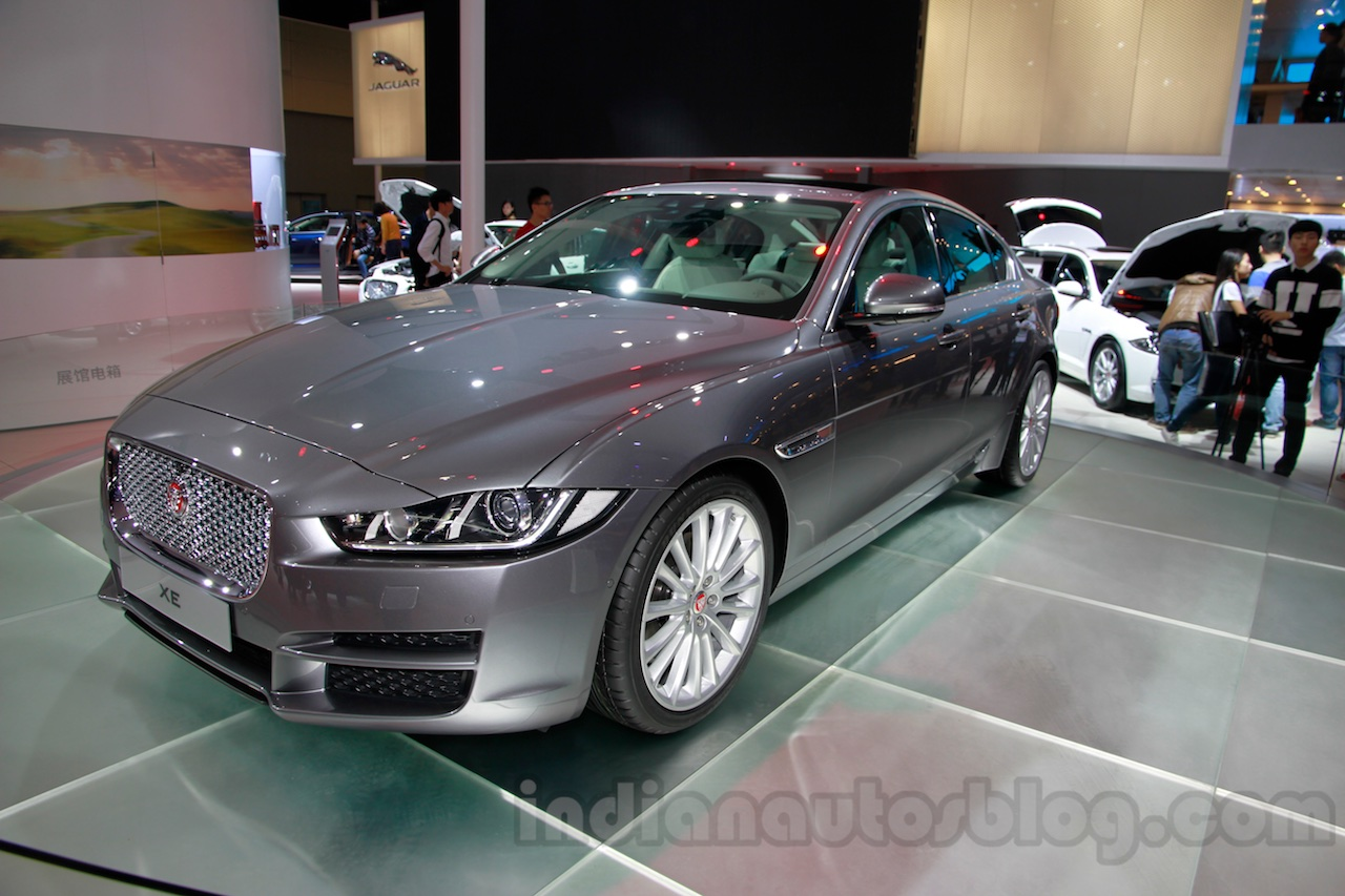 Jaguar XE front quarter at the 2014 Guangzhou Auto Show