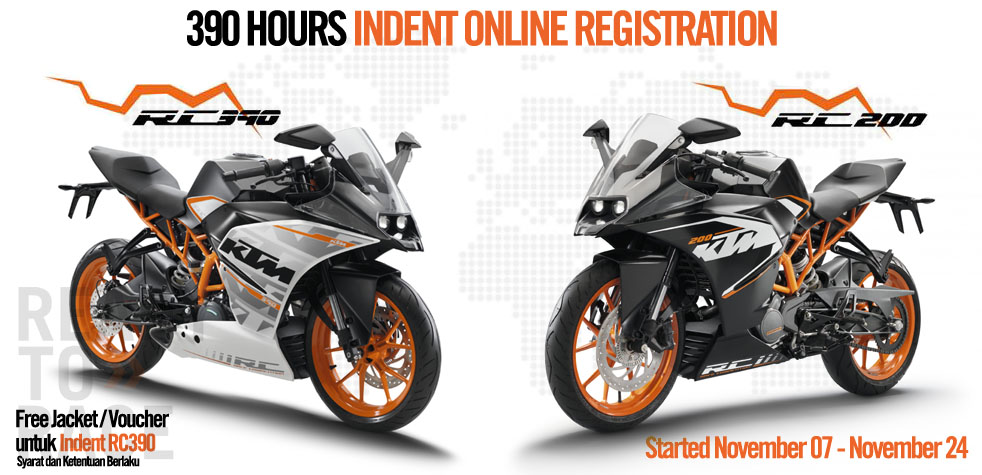 KTM RC200 and RC390 bookings Indonesia
