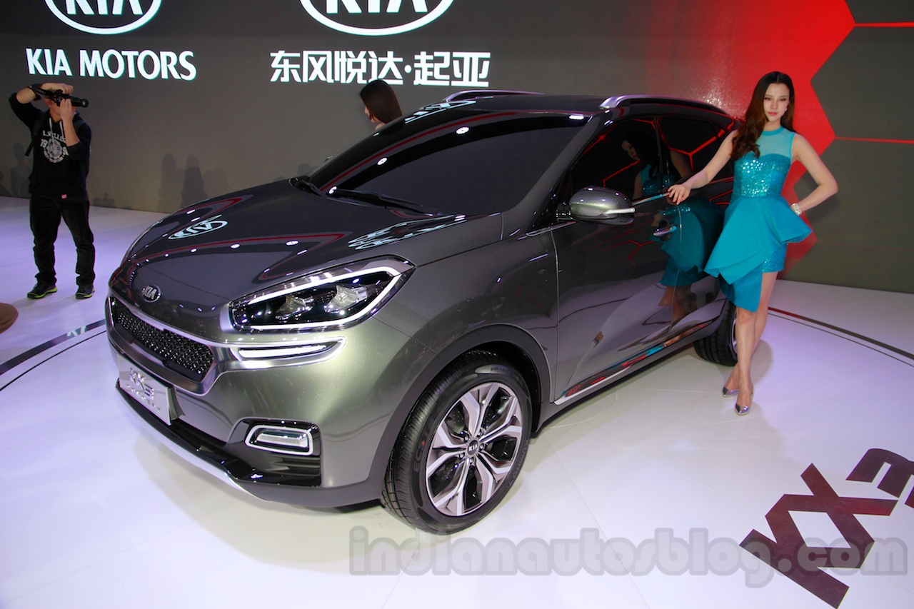 Kia KX3 Concept front quarter at 2014 Guangzhou Auto Show