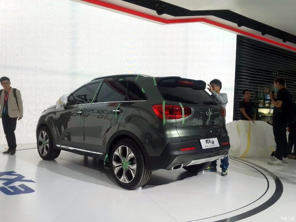Kia KX3 spied rear quarter