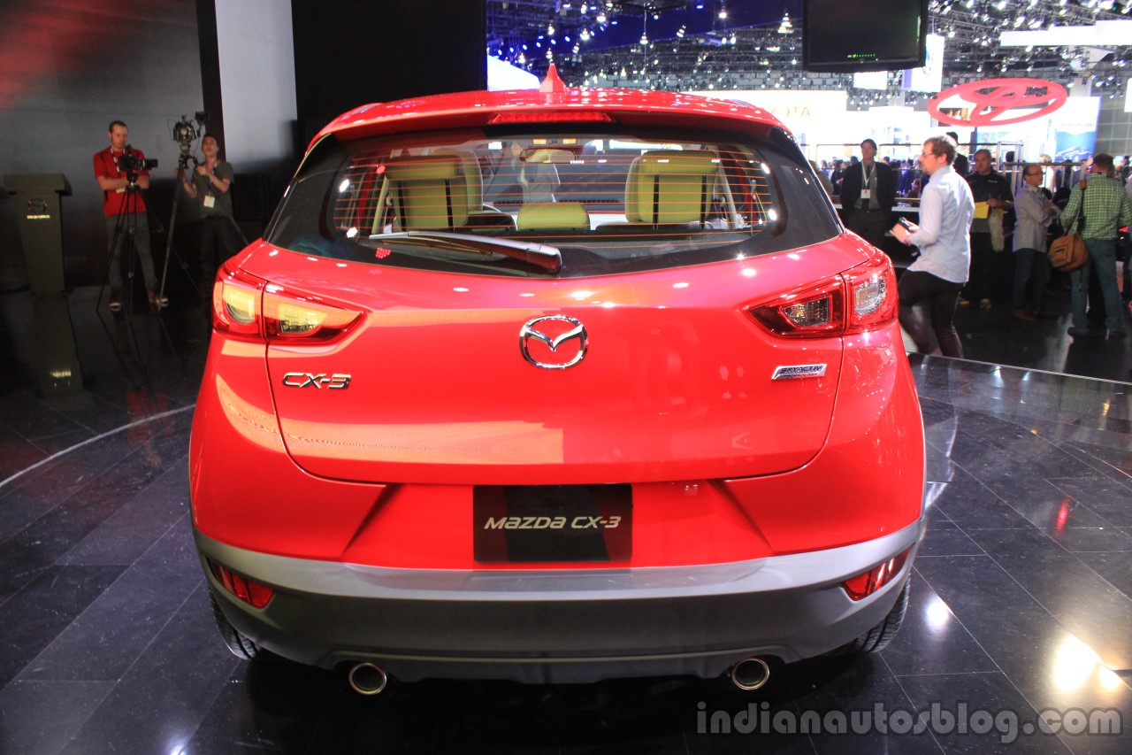 Mazda CX-3 rear at the 2014 Los Angeles Auto Show