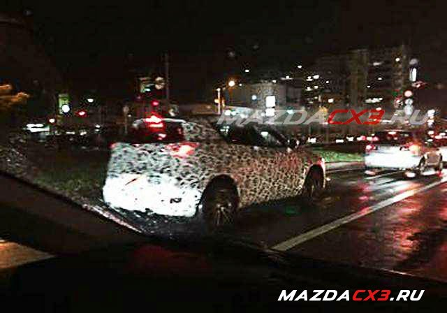 Mazda CX-3 side spied
