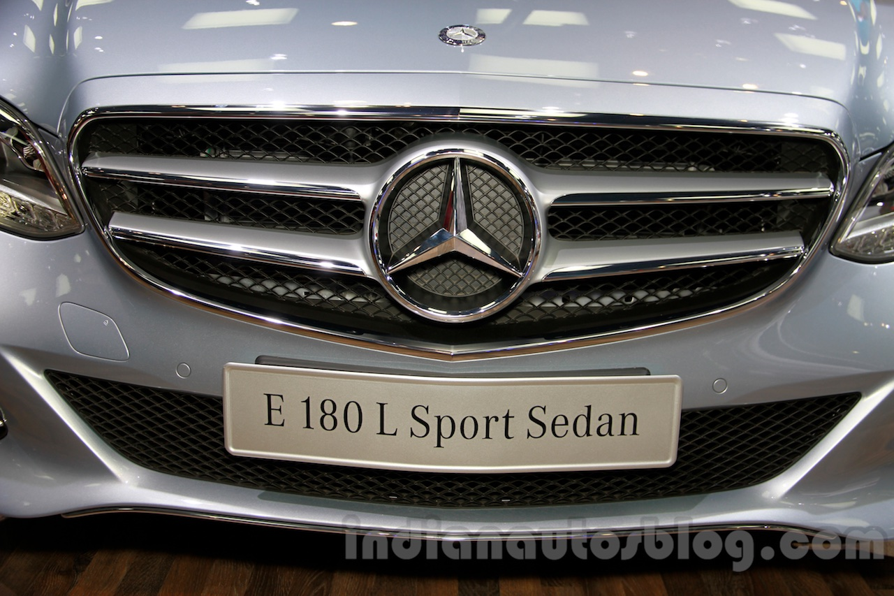 Mercedes E180L grille at Guangzhou Auto Show 2014