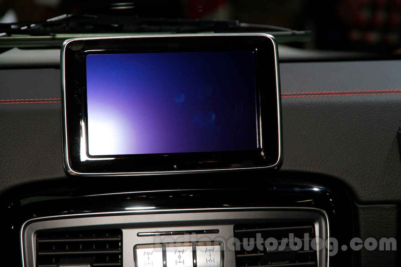 Mercedes G 500 Rock Edition infotainment display at Guangzhou Auto Show 2014