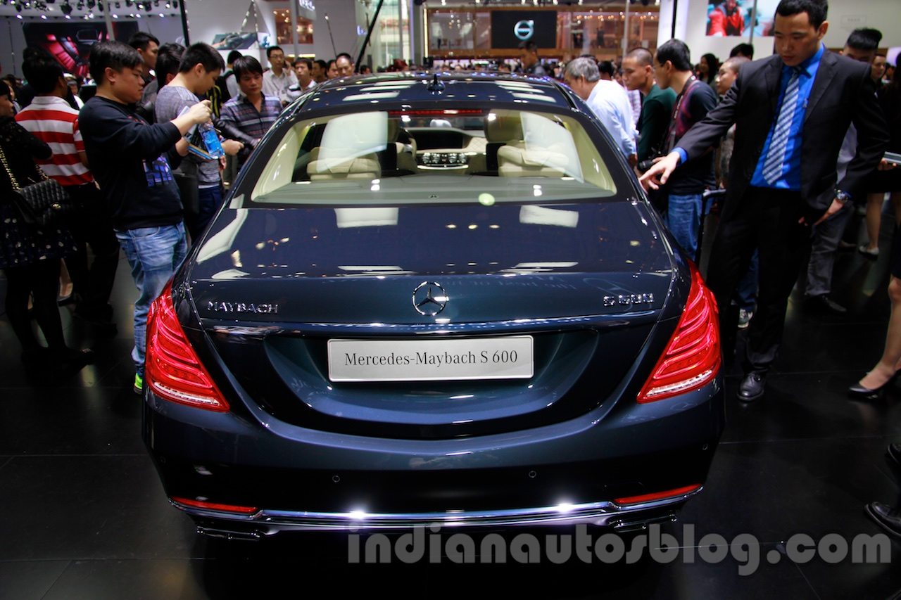 Mercedes-Maybach S600 rear at the 2014 Guangzhou Auto Show