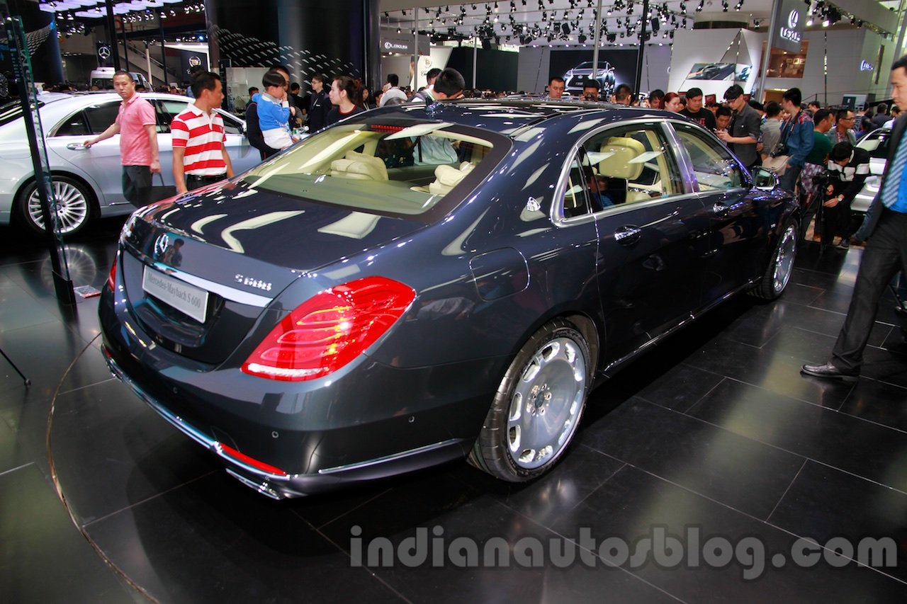 Mercedes-Maybach S600 rear quarters at the 2014 Guangzhou Auto Show