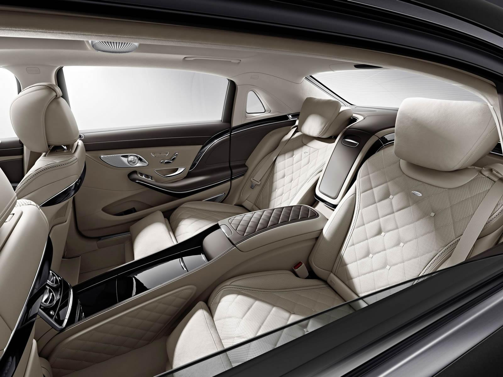 Mercedes-Maybach S600 teaser rear seat